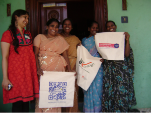 Women from our sewing unit in India. We crowd funded to raise cash to install solar panels at the unit.