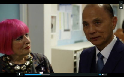 Jimmy Choo & Zandra Rhodes at ISCA